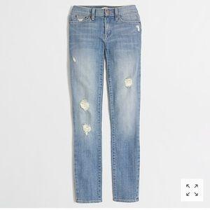 J. Crew skinny distressed jeans size 31